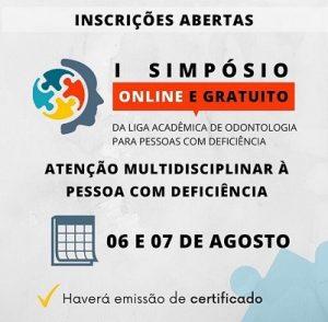 CESMAC realiza l Simpósio On-Line da Liga Acadêmica de Odontologia para Pessoas com Deficiência