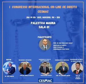 """Os Desafios do Pós-pandemia"""" serão debatidos no I Congresso Internacional On-Line de Direito do Cesmac"""